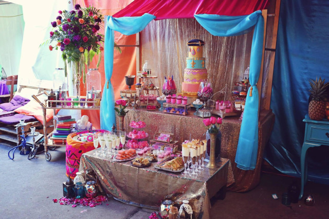 moroccan party dessert table